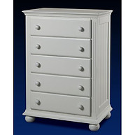Sorelle Furniture Vista 5 Drawer Chest French White