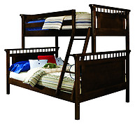 Bolton Furniture Bennington Twin over Full Bunk Bed Espresso