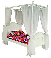 Bolton Furniture Emma 4 Post Twin with Tall Head Board White