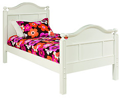 Bolton Furniture Emma Twin Bed with Tall Headboard White