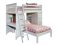 Bolton Furniture Mission SSS Loft Bed White