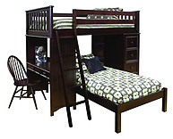Bolton Furniture Mission SSS Loft Bed Espresso