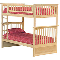 Atlantic Furniture Columbia Bunk Bed Twin over Twin Natural Maple