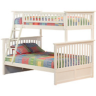 Atlantic Furniture Columbia Bunk bed Twin over Full White