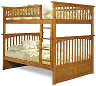 Atlantic Furniture Columbia Bunk Bed Full over Full Caramel Latte