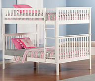 Atlantic Furniture Woodland Bunk Bed Full over Full White