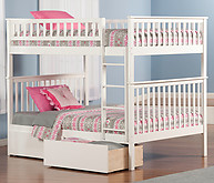 Atlantic Furniture Woodland Bunk Bed Full over Full Flat Panel White