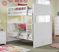 Atlantic Furniture Nantucket Bunk Bed Twin over Twin White