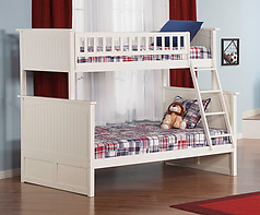 Atlantic Furniture Nantucket Bunk Bed Twin over Full White