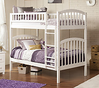 Atlantic Furniture Richland Bunk Bed Twin over Twin White