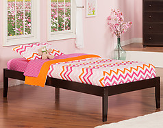 Atlantic Furniture Concord Bed Twin XL Espresso