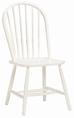 Bolton Furniture Bow Back Chair White