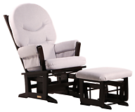 Dutailier C00-64C Silver Modern Glider and Ottoman Combo
