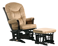 Dutailier C01-81A Gold Sleigh Glider Multiposition and Ottoman Combo