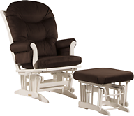Dutailier C26-81A Platinum Plus Sleigh Glider Multiposition, Recline and Nursing Ottoman Combo