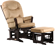 Dutailier C26-84A Platinum Plus Modern Glider Multiposition, Recline and Nursing Ottoman Combo