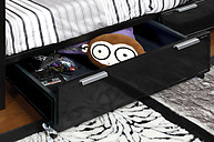Furniture of America Clifton Underbed Drawers Silver & Black