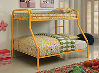 Furniture of America Rainbow Twin/Full Bunk Bed Orange