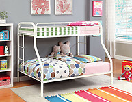 Furniture of America Rainbow Twin/Full Bunk Bed White