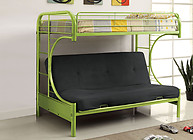 Furniture of America Rainbow Twin/Futon Base Bunk Bed Green