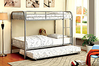 Furniture of America Rainbow Twin/Twin Bunk Bed Silver