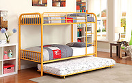 Furniture of America Rainbow Twin/Twin Bunk Bed Orange