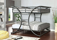 Furniture of America Lexis Bunk Bed Gun Metal