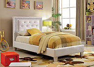 Furniture of America Lianne Bed White