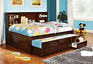 Furniture of America Hardin Captain Bed Cherry
