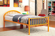 Furniture of America Rainbow Twin Bed Orange