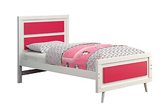 Furniture of America Alivia Bed Pink & White