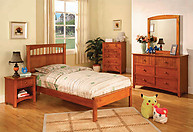 Furniture of America Carus Collection 4-Piece Set Oak