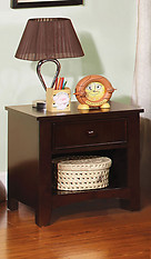Furniture of America Omnus Nightstand Dark Walnut