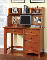 Furniture of America Omnus Desk with Hutch Oak