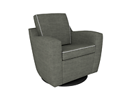 Dutailier D03191-15-9900 Upholstered Mocha Swivel Glider- Pebble Taupe Self-Welted Seat & Back Cushion