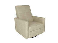 Dutailier D23461-55-5213 Swivel Minho Upholstered Glider-Recline, Swivel with Built-in Footrest
