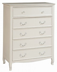 Bolton Furniture Emma 5 Drawer Chest White