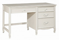 Bolton Furniture Emma Large Pedestal Desk White
