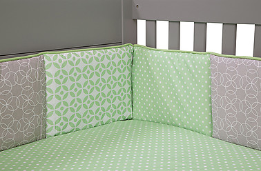 Trend Lab Lauren 4PC Crib Bumper Set