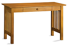 Atlantic Furniture Mission Desk with Drawer Caramel Latte