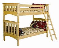 Bolton Furniture Mission Bunk, Natural