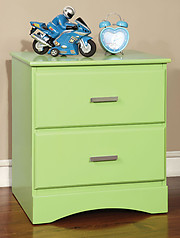 Furniture of America Prismo Nightstand Green
