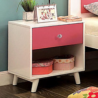 Furniture of America Alivia Nightstand Pink & White