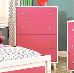 Furniture of America Alivia Chest Pink & White