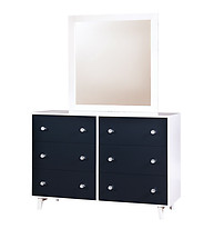 Furniture of America Alivia Dresser Blue & White