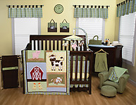 Trend Lab Baby Barnyard 3PC Crib Bedding Set