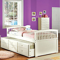 Furniture of America Bella Bed White