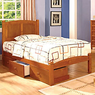 Furniture of America Cara Bed Oak