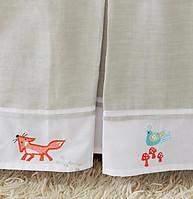 Little Acorn Fox and the Finch Crib Skirt