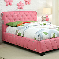 Furniture of America Juilliard Bed Pink